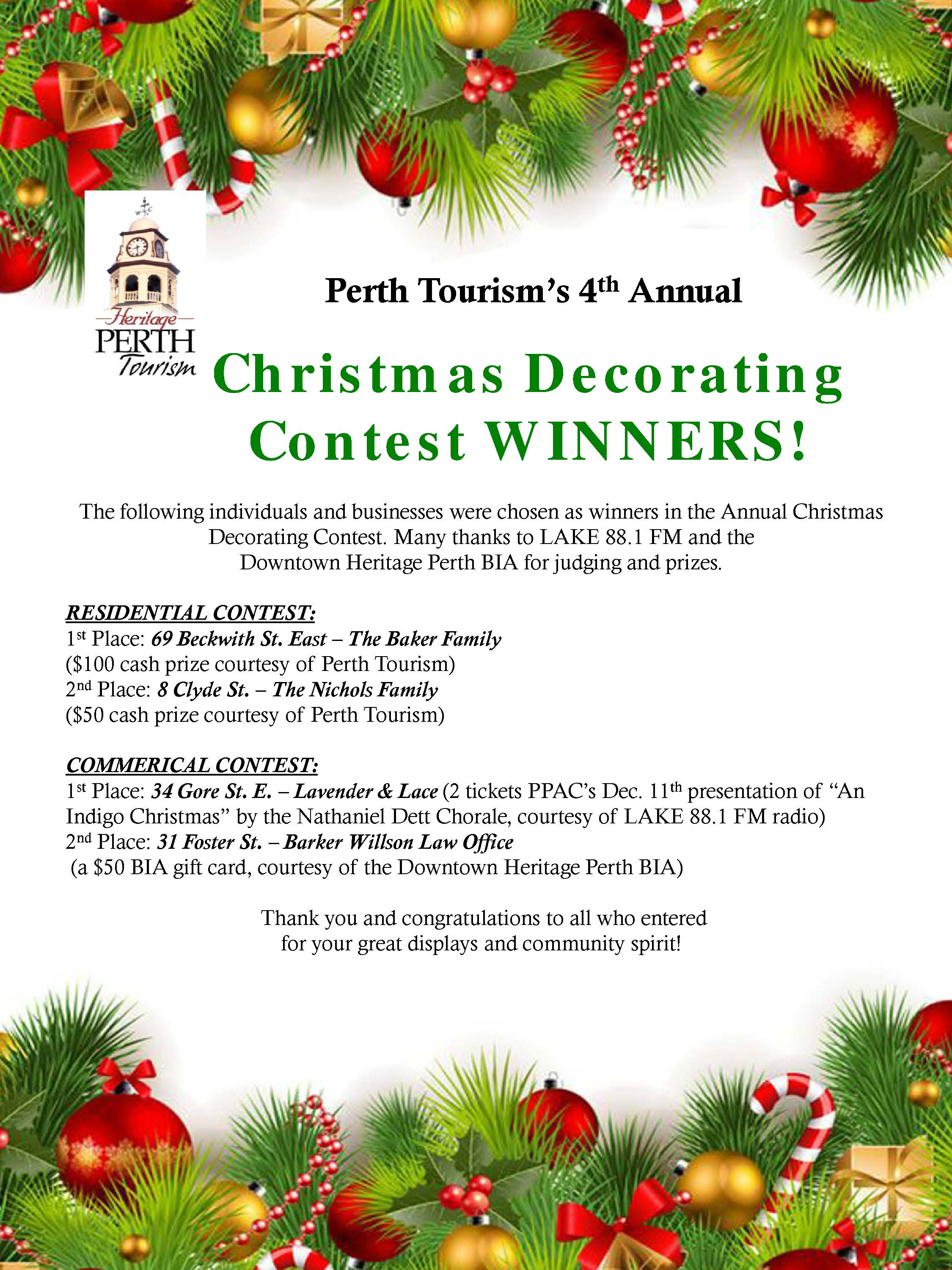 2015 christmas winners poster - Christmas Decorating Contest